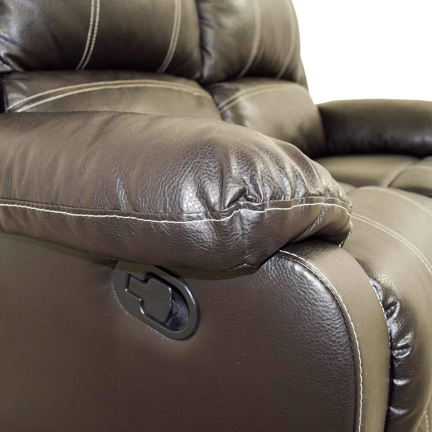Acme Black Leather Reclining Loveseat Acme