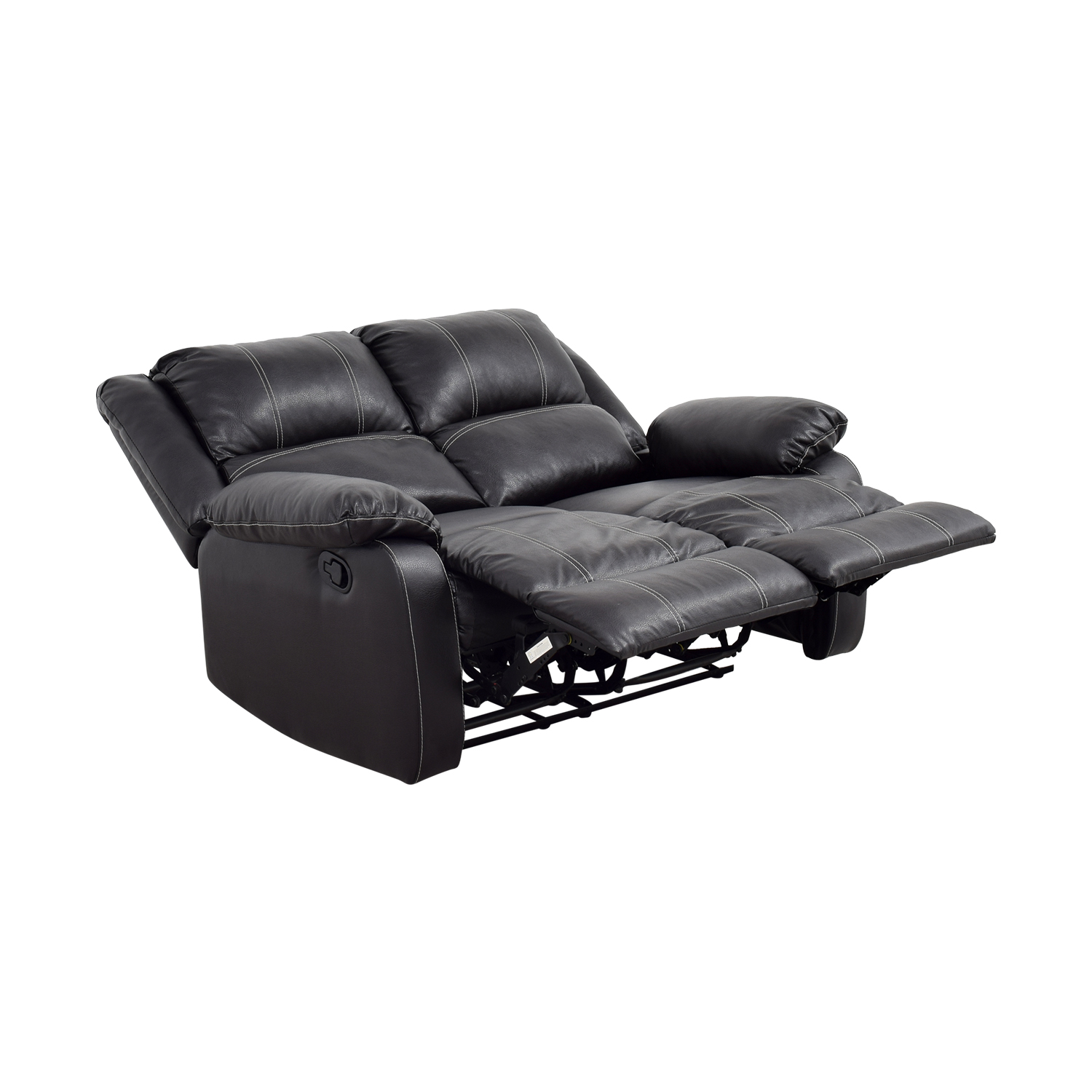 Acme Acme Black Leather Reclining Loveseat used