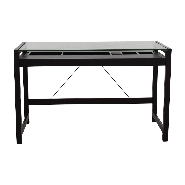 shop Acme Acme Loakim Glass Top Computer Desk online