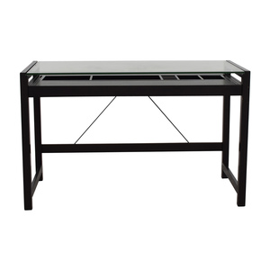 Acme Acme Loakim Glass Top Computer Desk discount