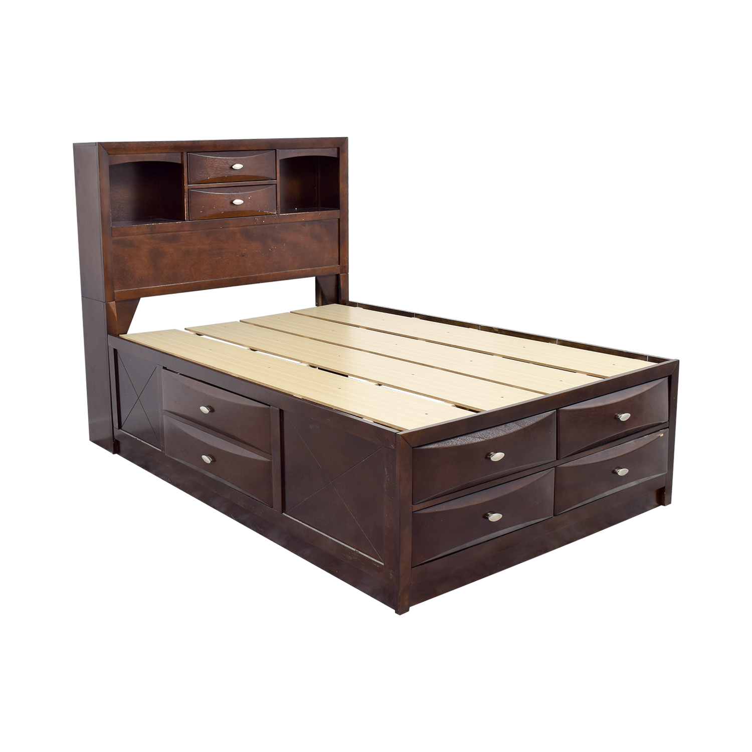 Acme Acme Louis Philippe III Cherry Queen Drawer and Bookcase Bed coupon