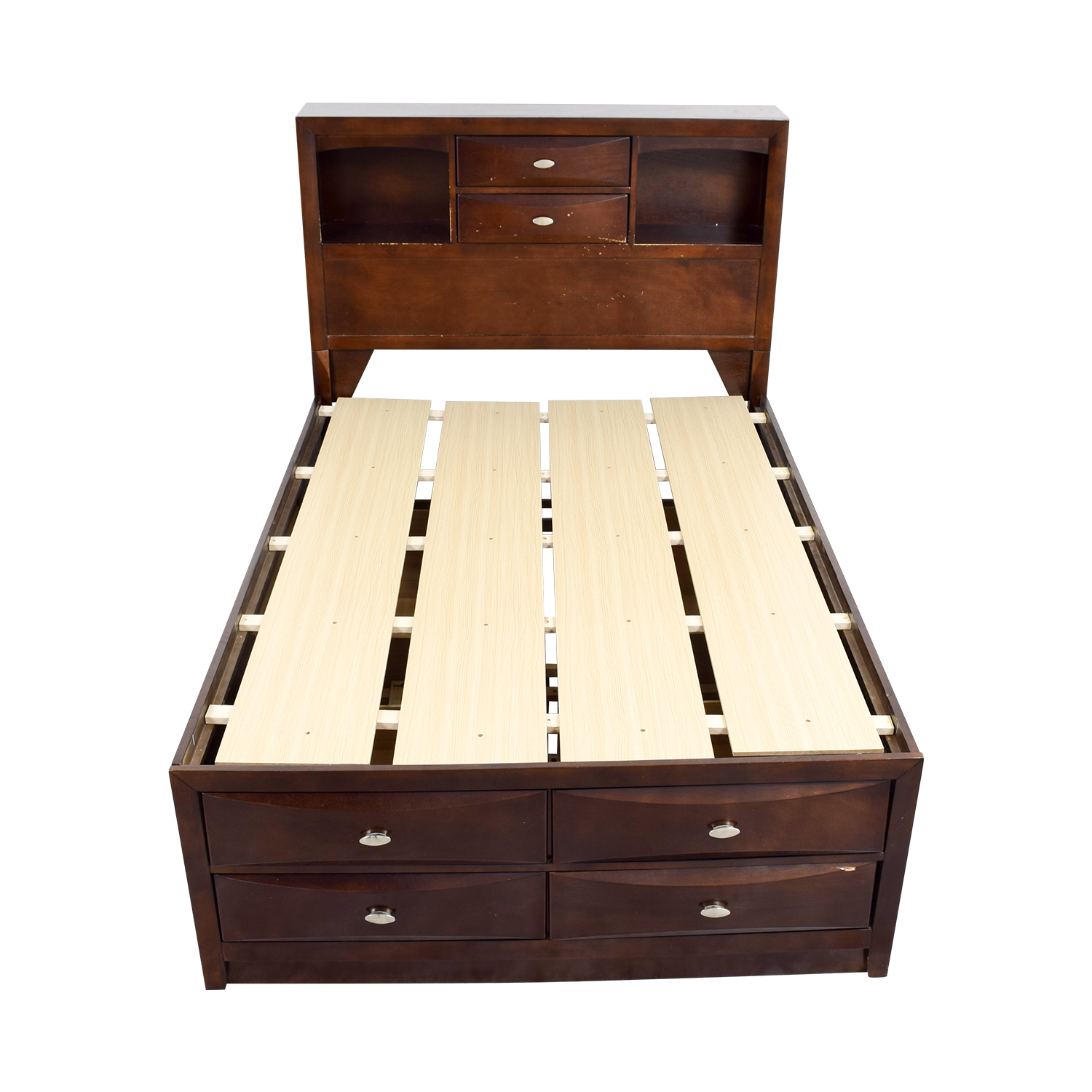 Acme Acme Louis Philippe III Cherry Queen Drawer and Bookcase Bed nj