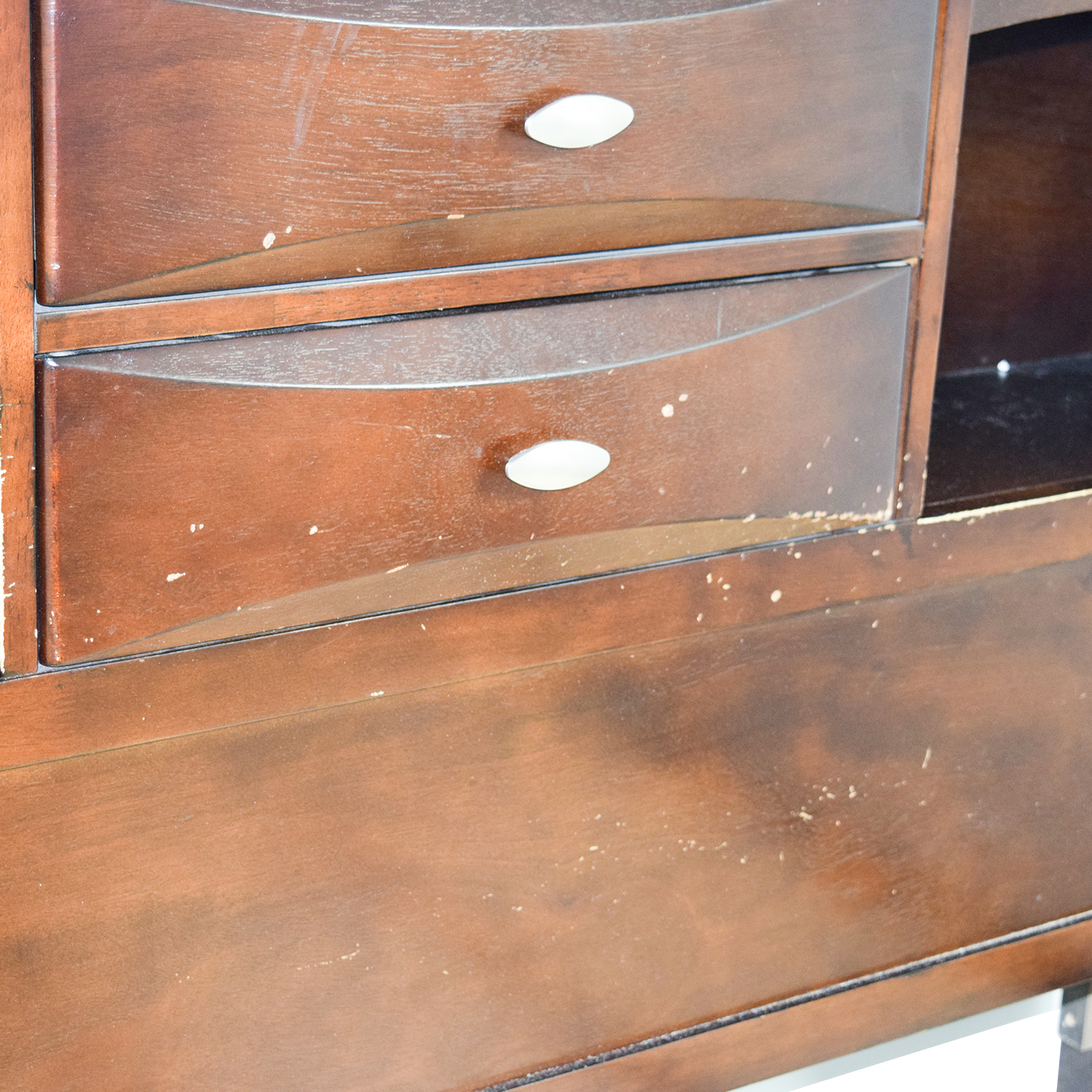 Acme Acme Louis Philippe III Cherry Queen Drawer and Bookcase Bed used