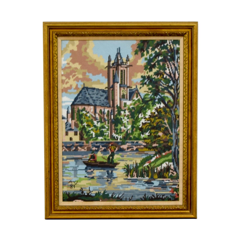 buy Framed Scenic Framed Needlepoint Art