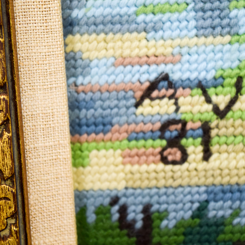 buy Framed Scenic Framed Needlepoint Art Decor