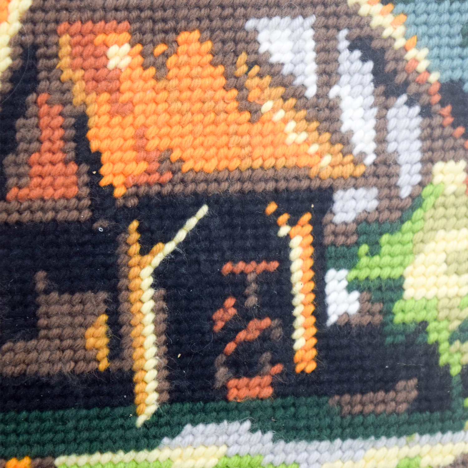 Framed Scenic Cottage Lake Needlepoint nj