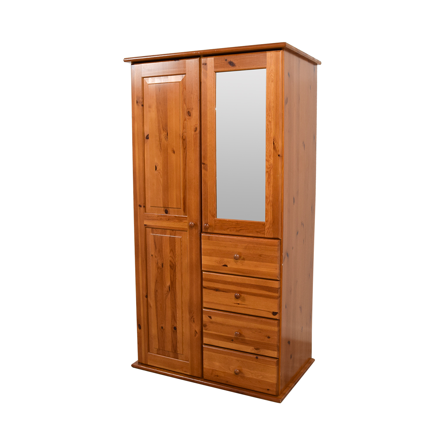 shop Wood Armoire with Rack Drawers and Shelves Storage