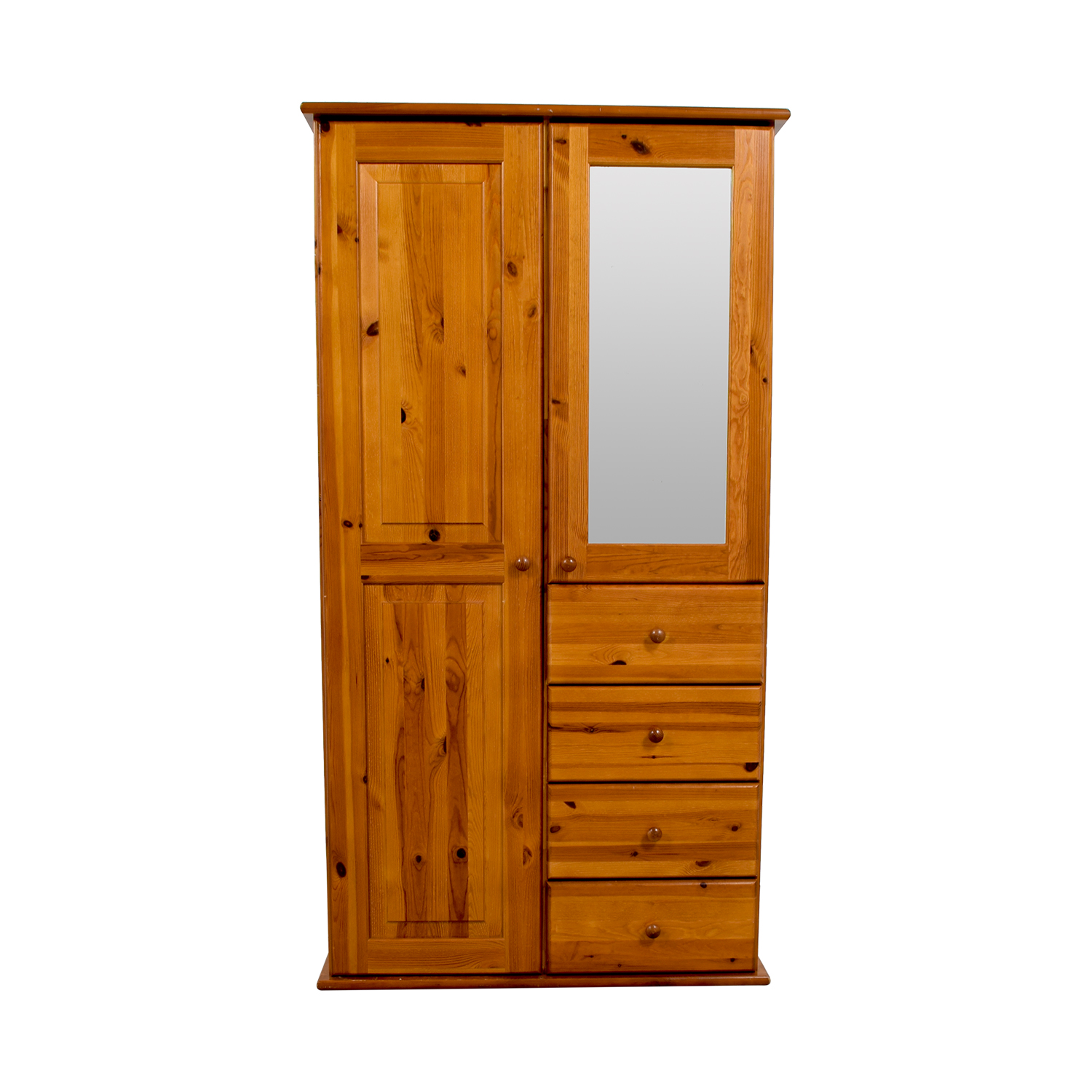 Wood Armoire with Rack Drawers and Shelves coupon