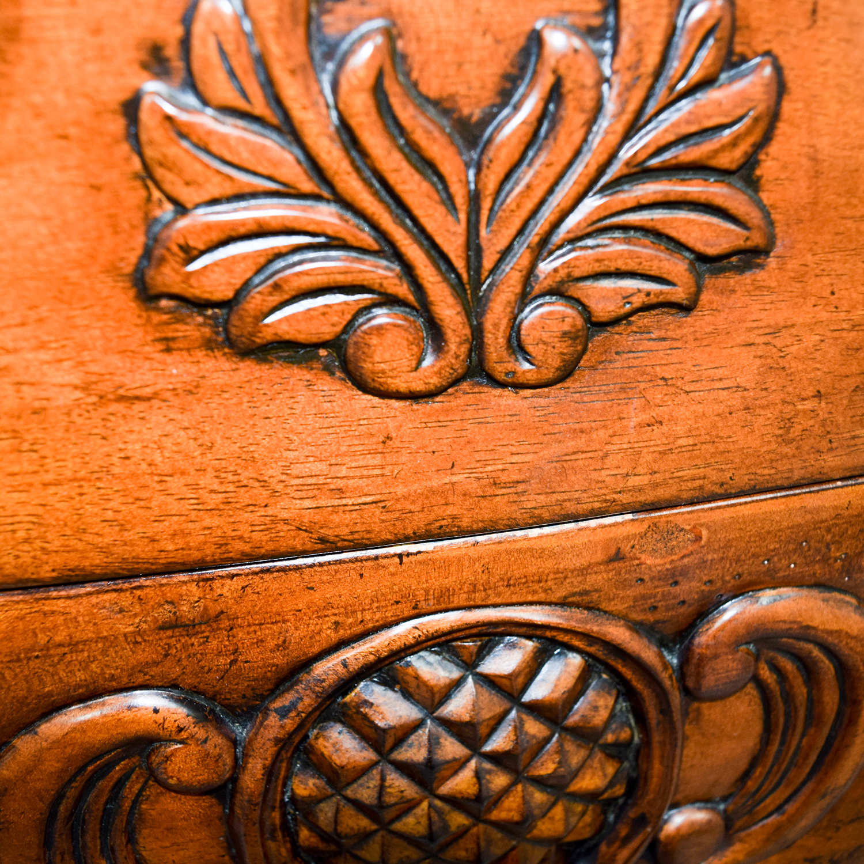 shop Wood Carved Three-Drawer Dresser with Mirror online