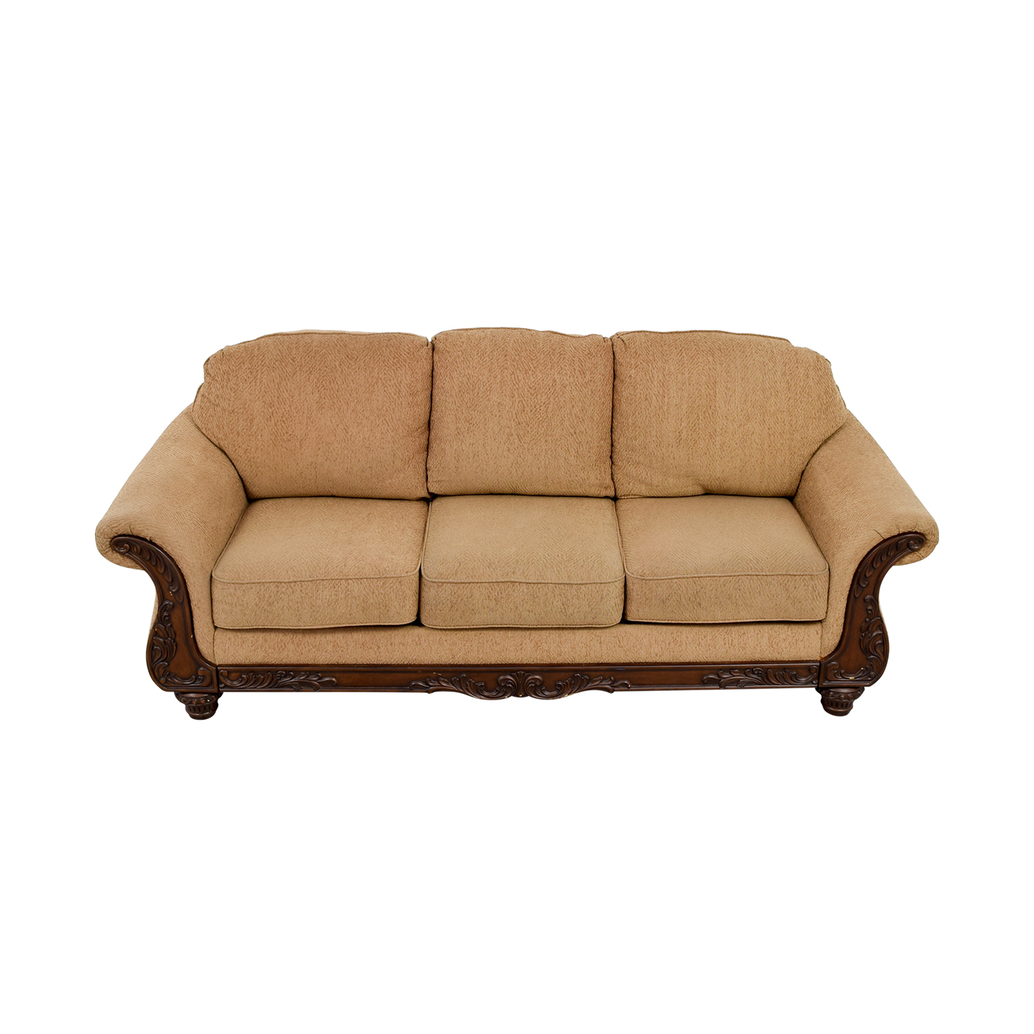 buy Havertys Gold Carved Wood Couch Havertys Classic Sofas