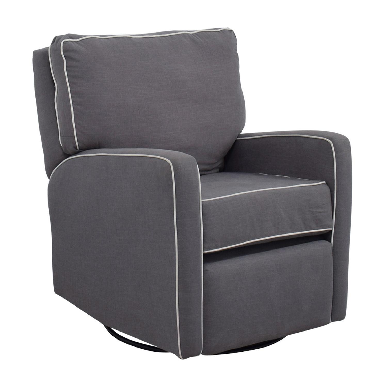 Grey with White Trim Rocking Chair grey/white