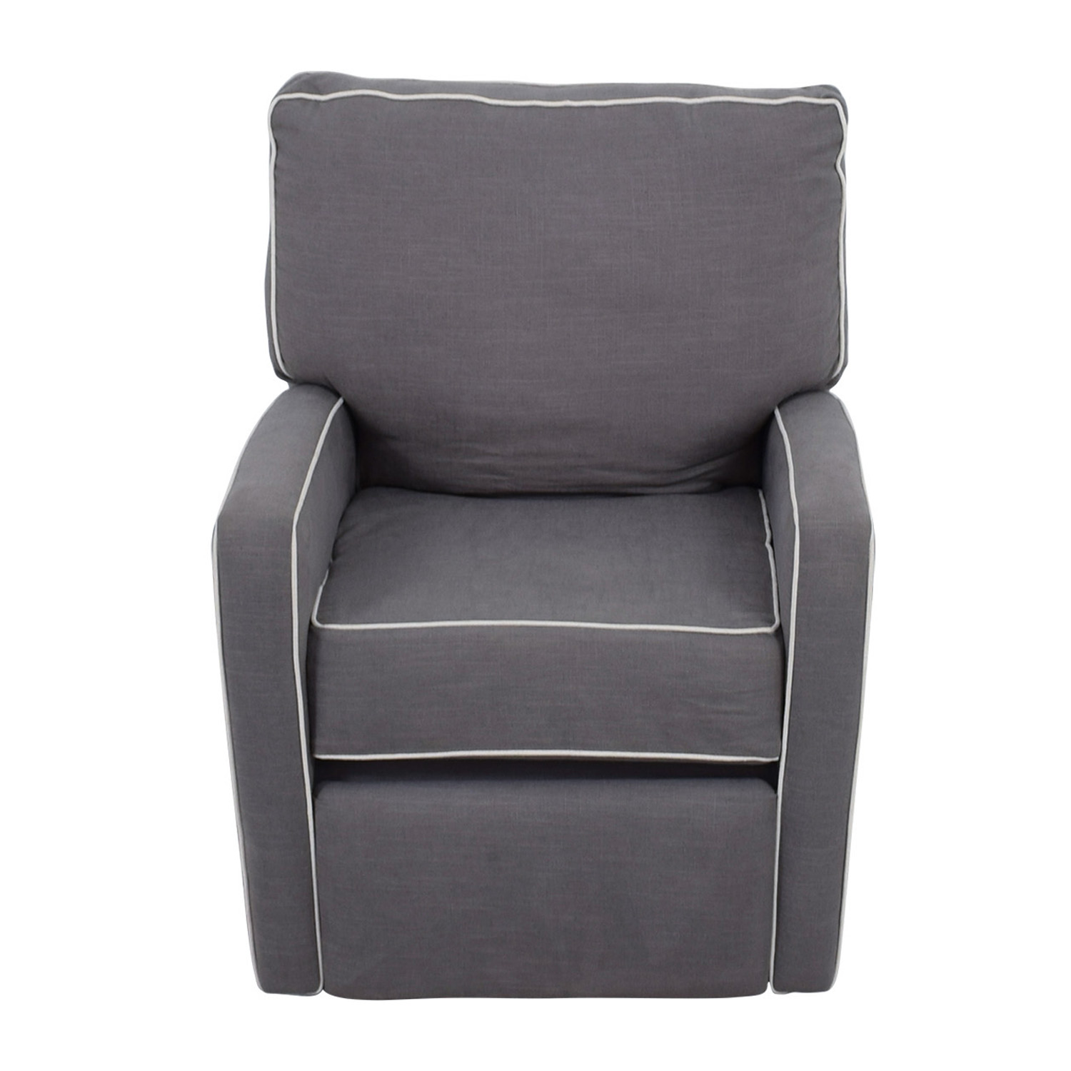 Grey with White Trim Rocking Chair coupon