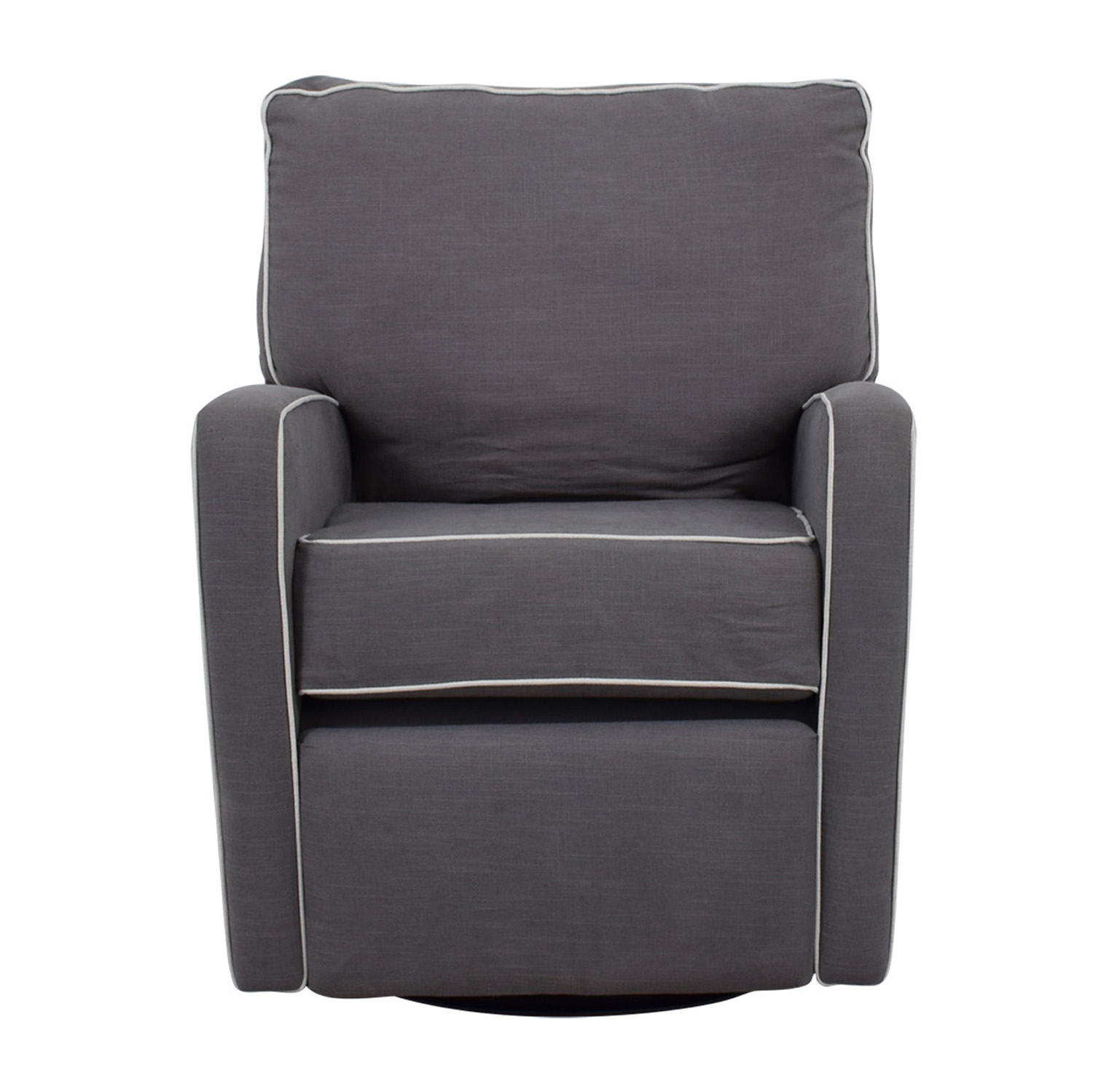 shop Grey with White Trim Rocking Chair Accent Chairs