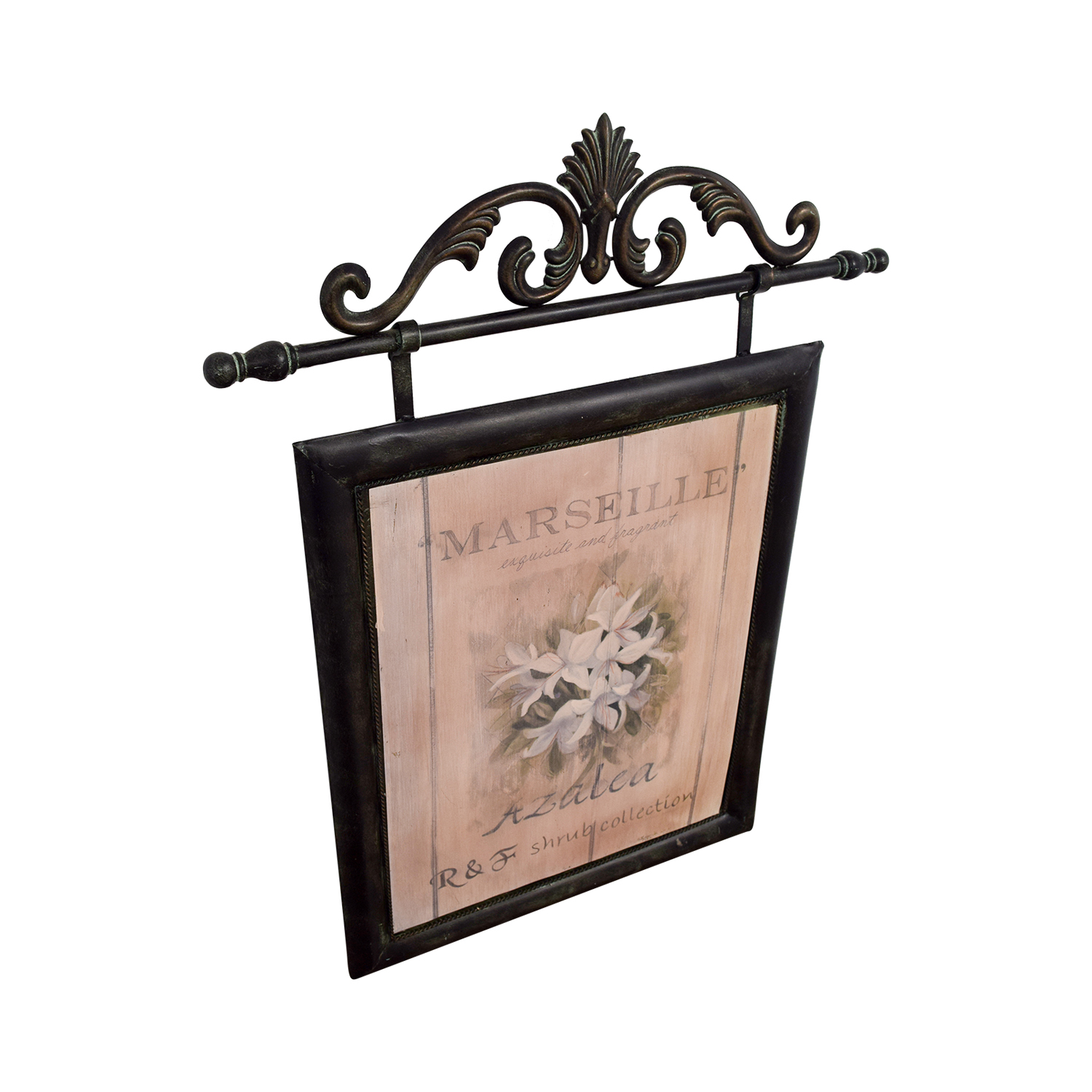 shop Fortunoff Marseille French Azelea Picture with Metal Frame Fortunoff Wall Art