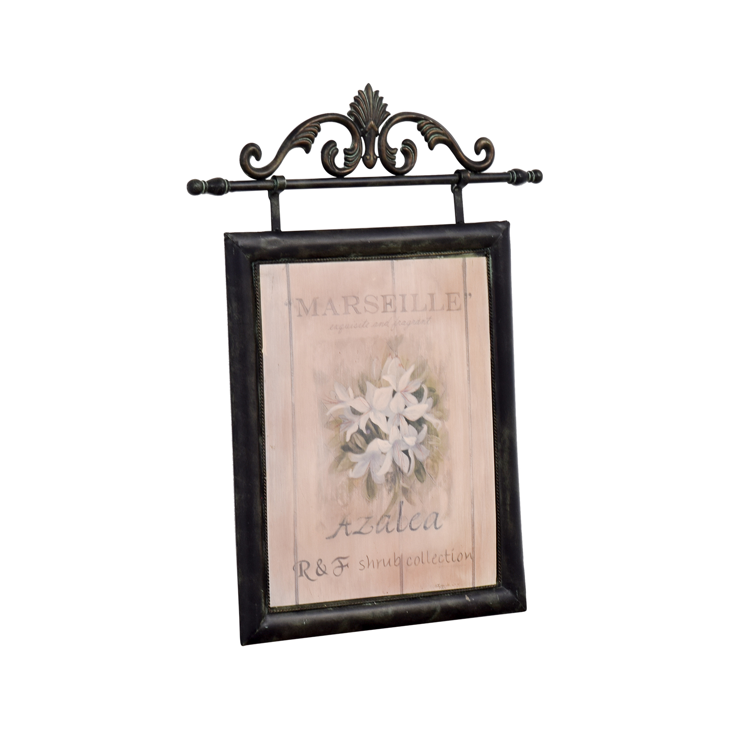shop Fortunoff Marseille French Azelea Picture with Metal Frame Fortunoff