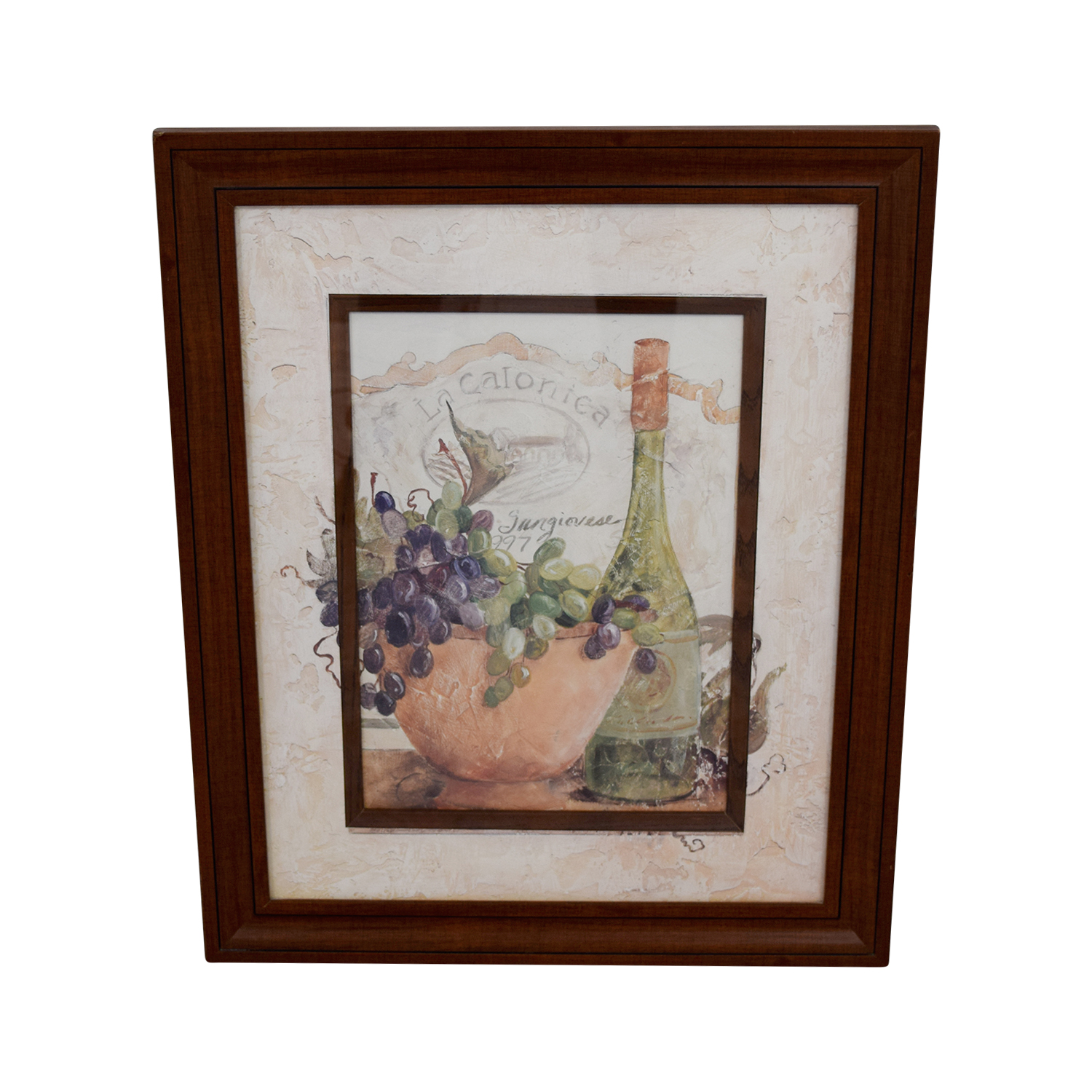 Fortunoff Fortunoff Wine and Grape Wall Art Brown / Beige