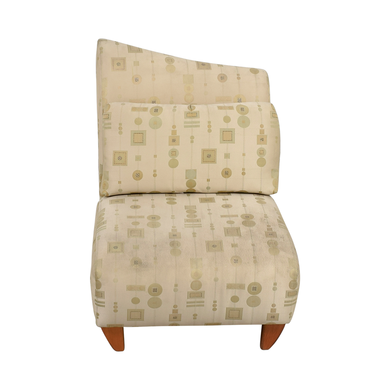 Art Deco White and Gold Accent Chair