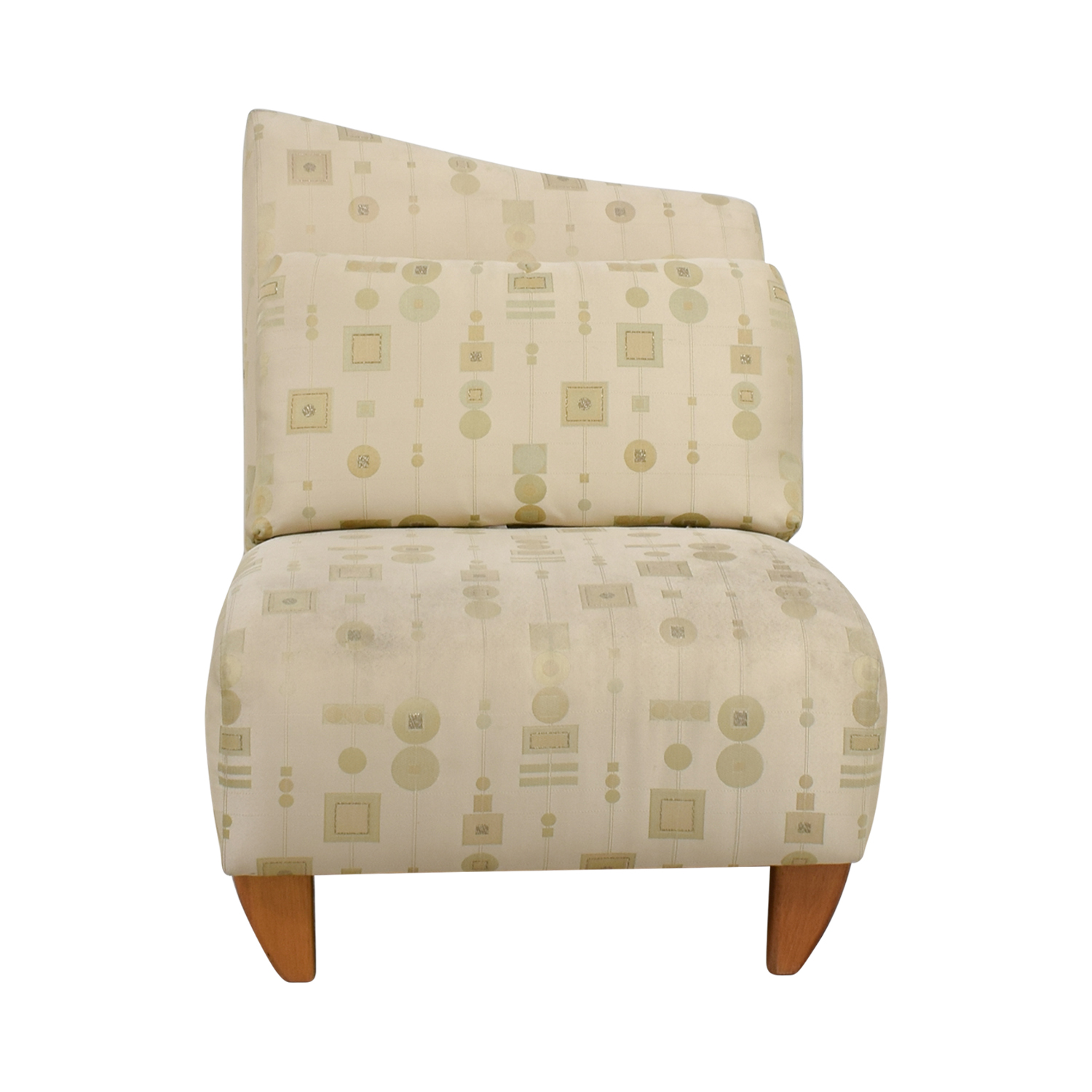buy Art Deco White and Gold Accent Chair Accent Chairs