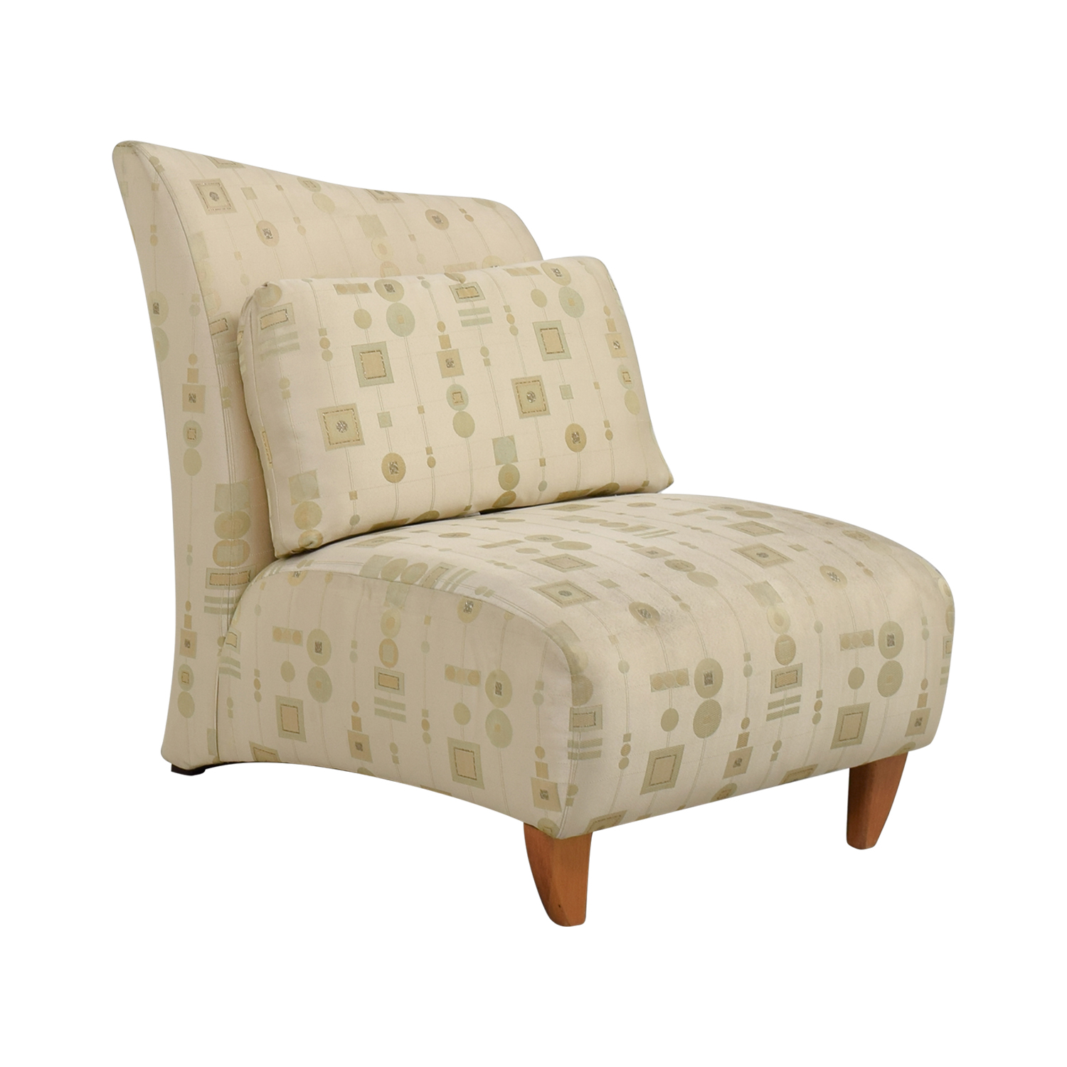 buy Art Deco White and Gold Accent Chair online