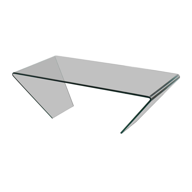 shop J & M Furniture J & M Furniture Bent Clear Glass Coffee Table online