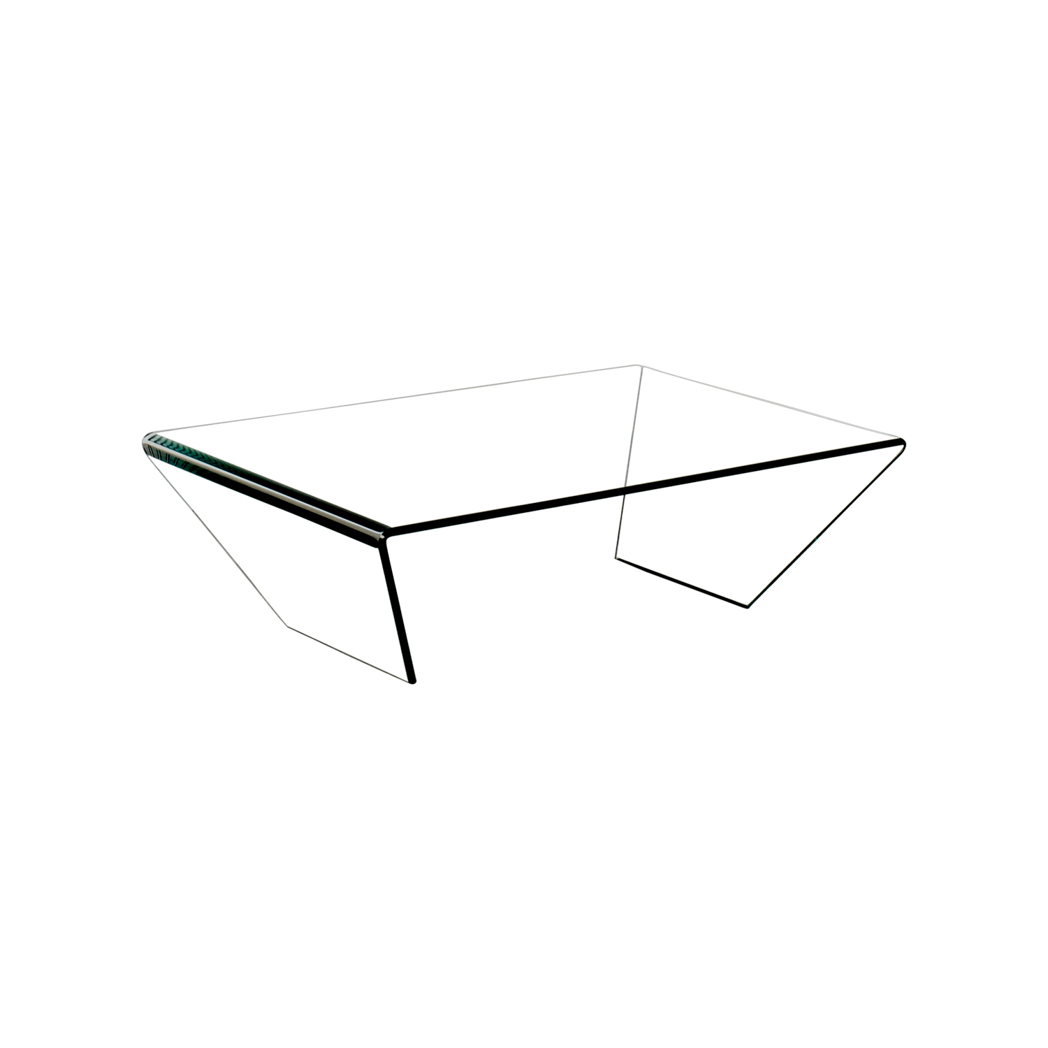 ... Shop J U0026 M Furniture J U0026 M Furniture Bent Clear Glass Coffee Table ...