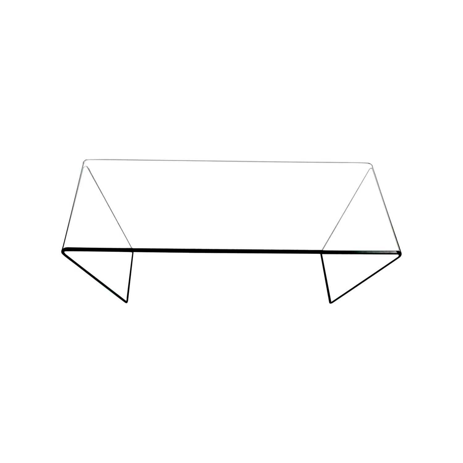 J M Furniture Bent Clear Glass Coffee Table Dimensions