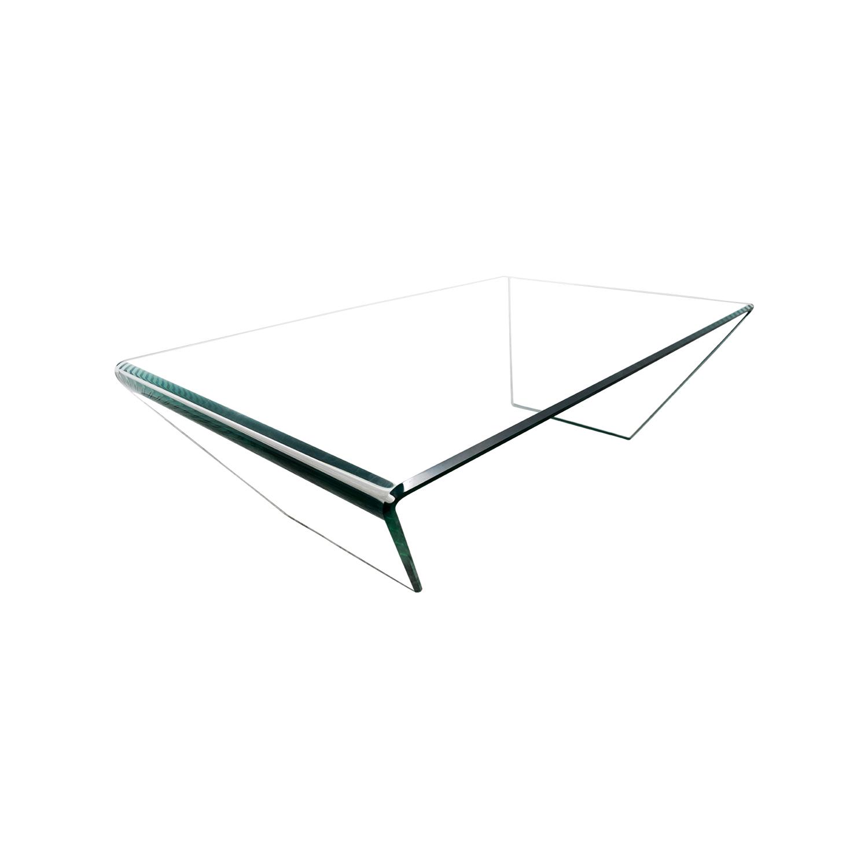 shop J & M Furniture Bent Clear Glass Coffee Table J & M Furniture