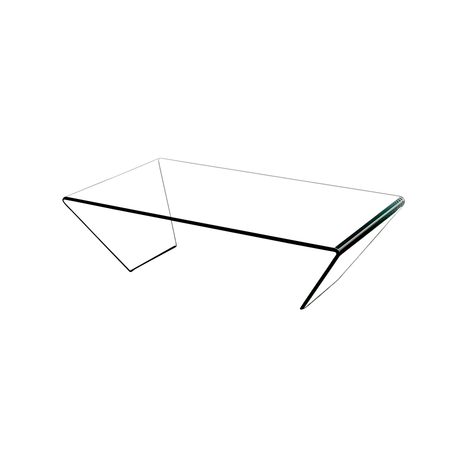 buy J & M Furniture Bent Clear Glass Coffee Table J & M Furniture Coffee Tables