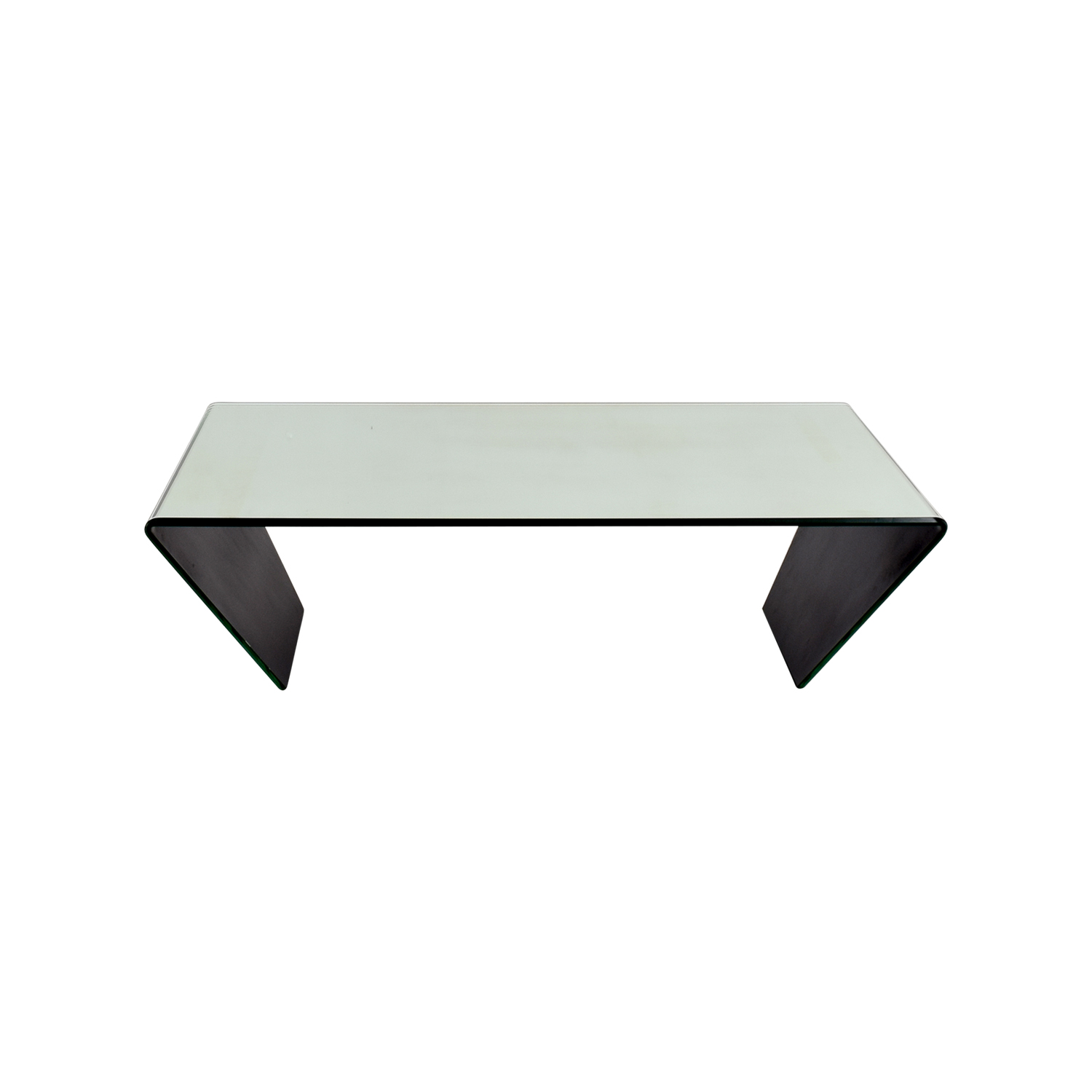 buy J & M Furniture J & M Furniture Bent Mirrired Glass Coffee Table online