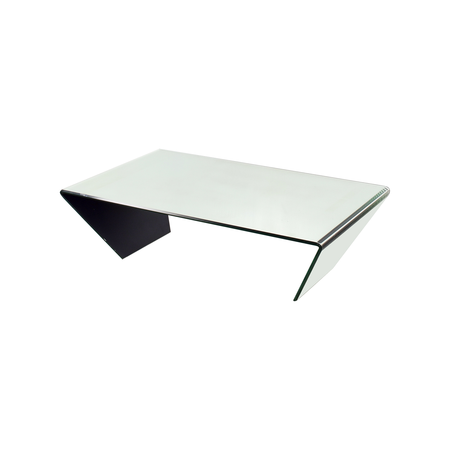 J & M Furniture J & M Furniture Bent Mirrired Glass Coffee Table on sale
