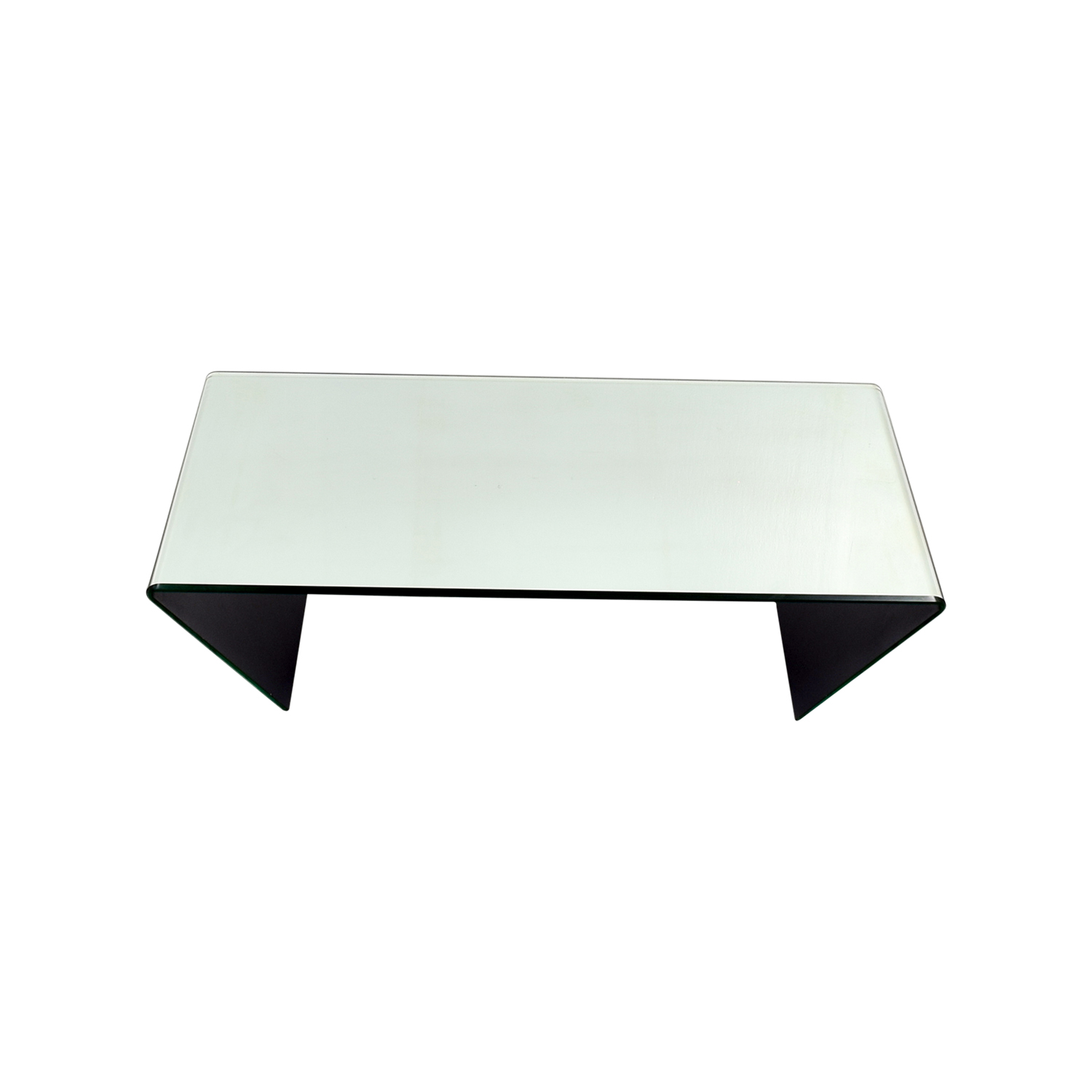 J & M Furniture Bent Mirrored Coffee Table / Tables