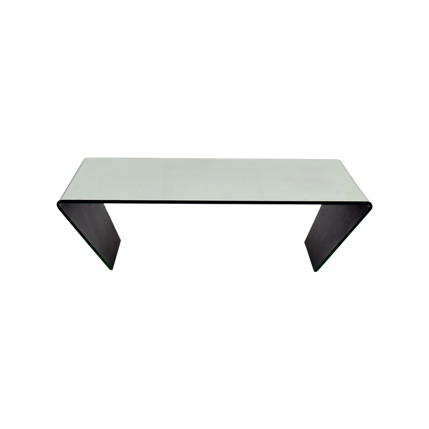 J & M Furniture J & M Furniture Bent Mirrored Coffee Table for sale