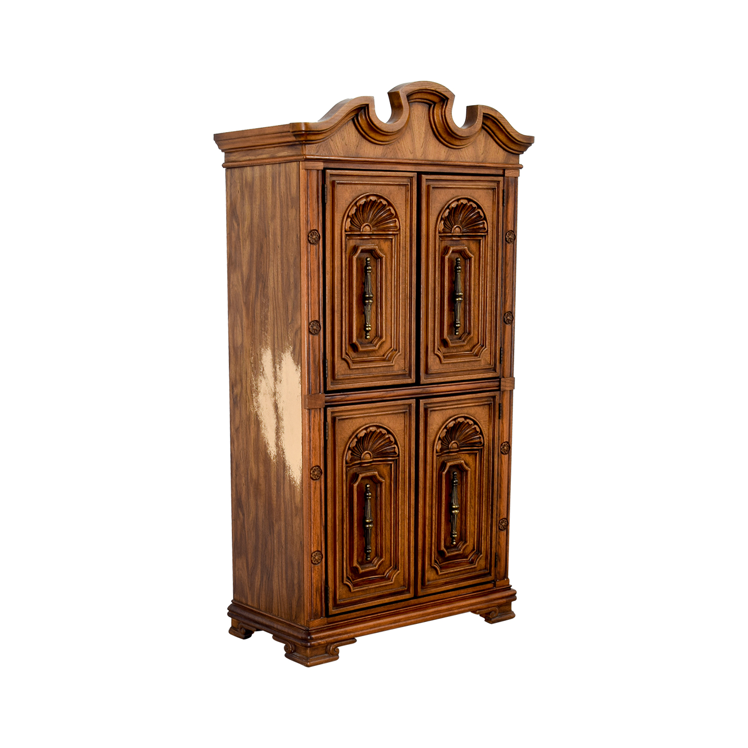 Seaman's Seaman's Carved Wood Armoire nyc