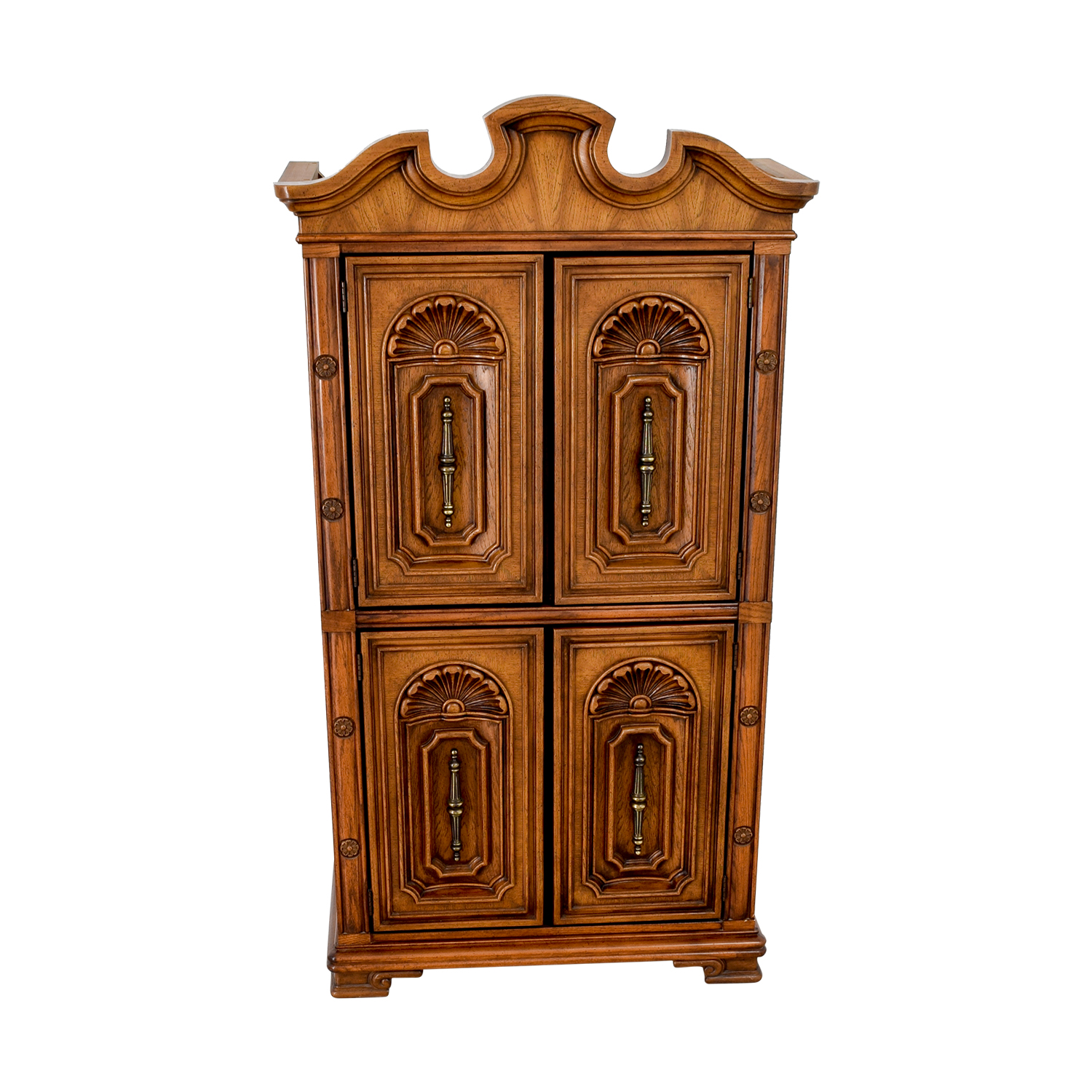 Seaman's Carved Wood Armoire sale