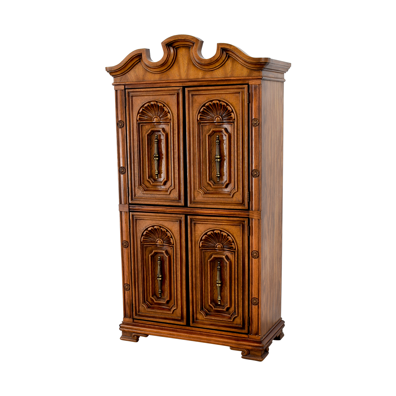 90% OFF - Seaman's Seaman's Carved Wood Armoire / Storage