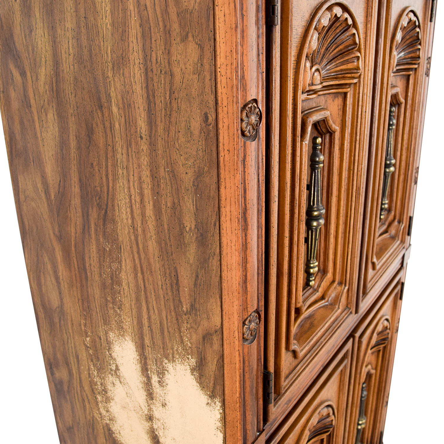 Seaman's Seaman's Carved Wood Armoire / Storage
