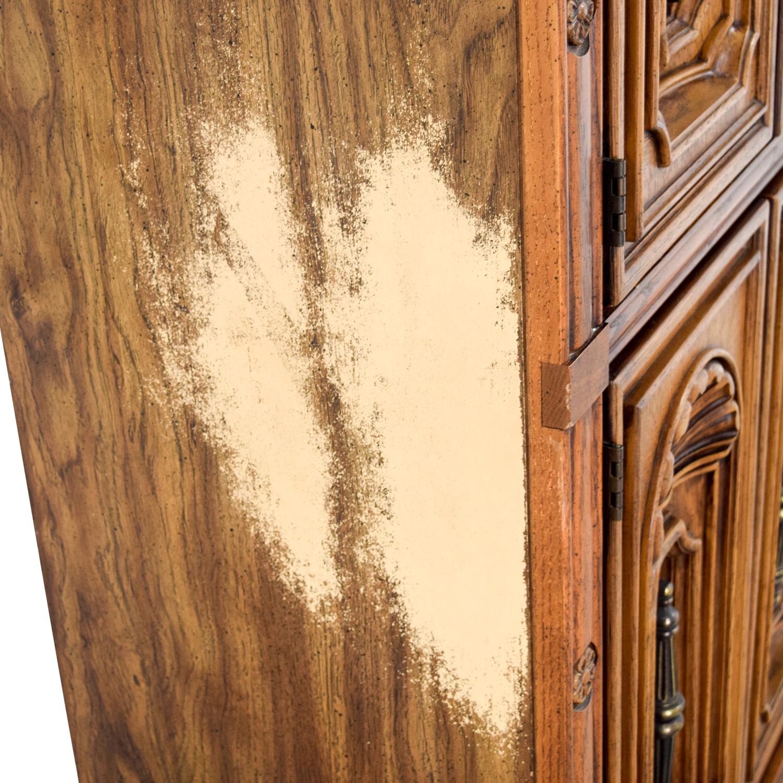 Seaman's Seaman's Carved Wood Armoire nj