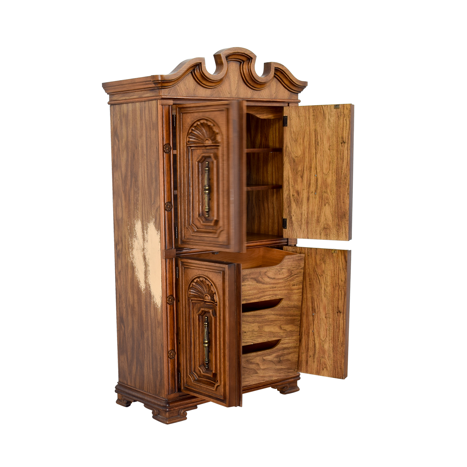 Seaman's Seaman's Carved Wood Armoire nj