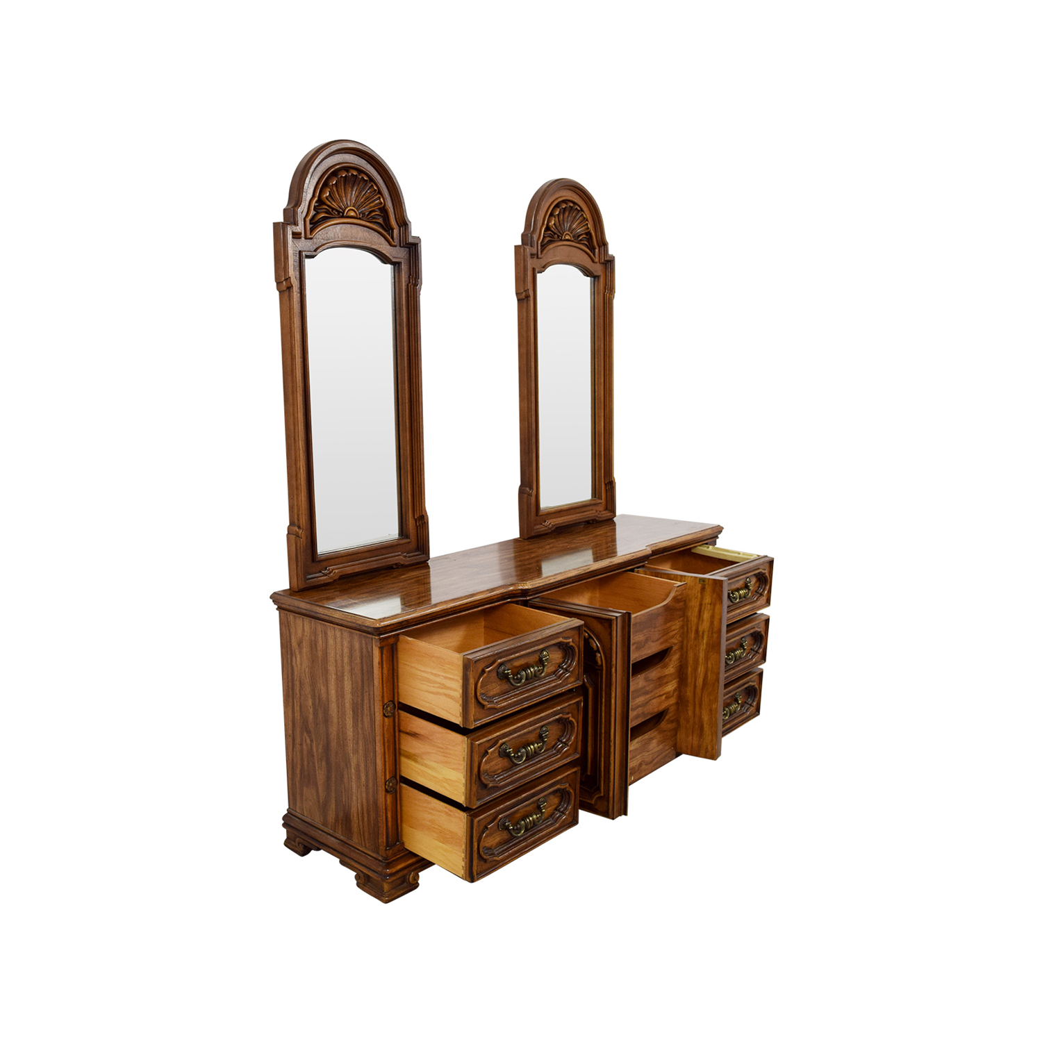 shop Seaman's Seaman's Two Mirror Wood Dresser online