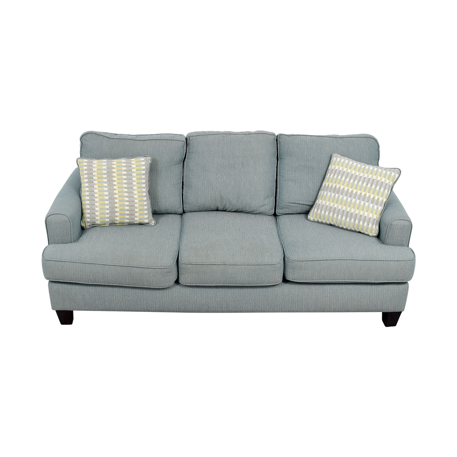 Raymour and Flanigan Raymour and Flanigan Willoughby Blue Three Seater Sofa blue