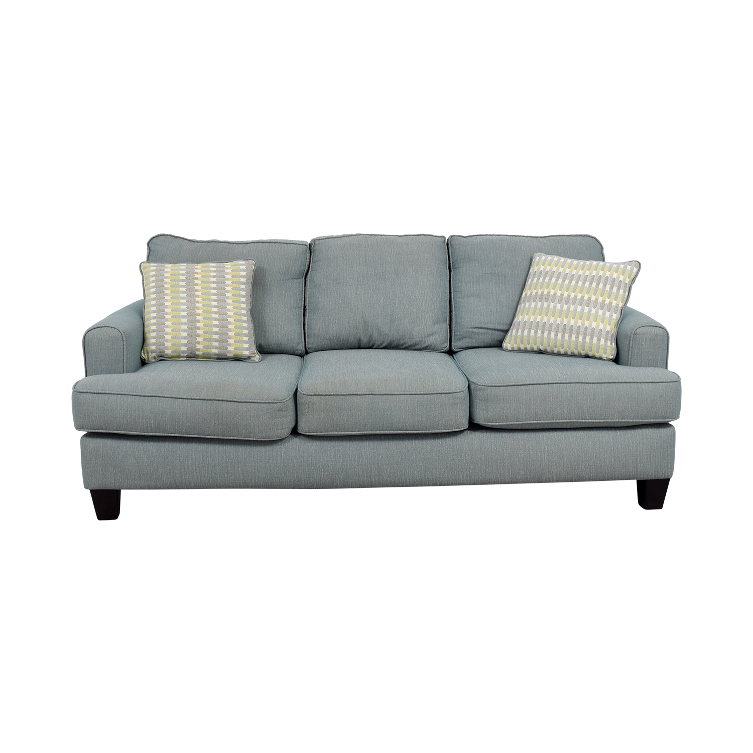 buy Raymour and Flanigan Raymour and Flanigan Willoughby Blue Three Seater Sofa online
