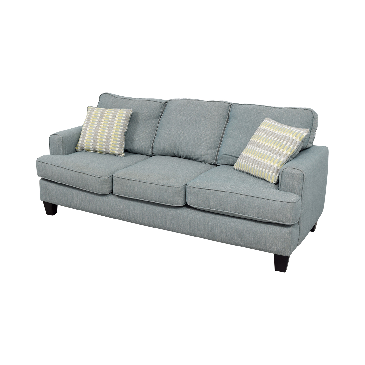 Raymour and Flanigan Raymour and Flanigan Willoughby Blue Three Seater Sofa price