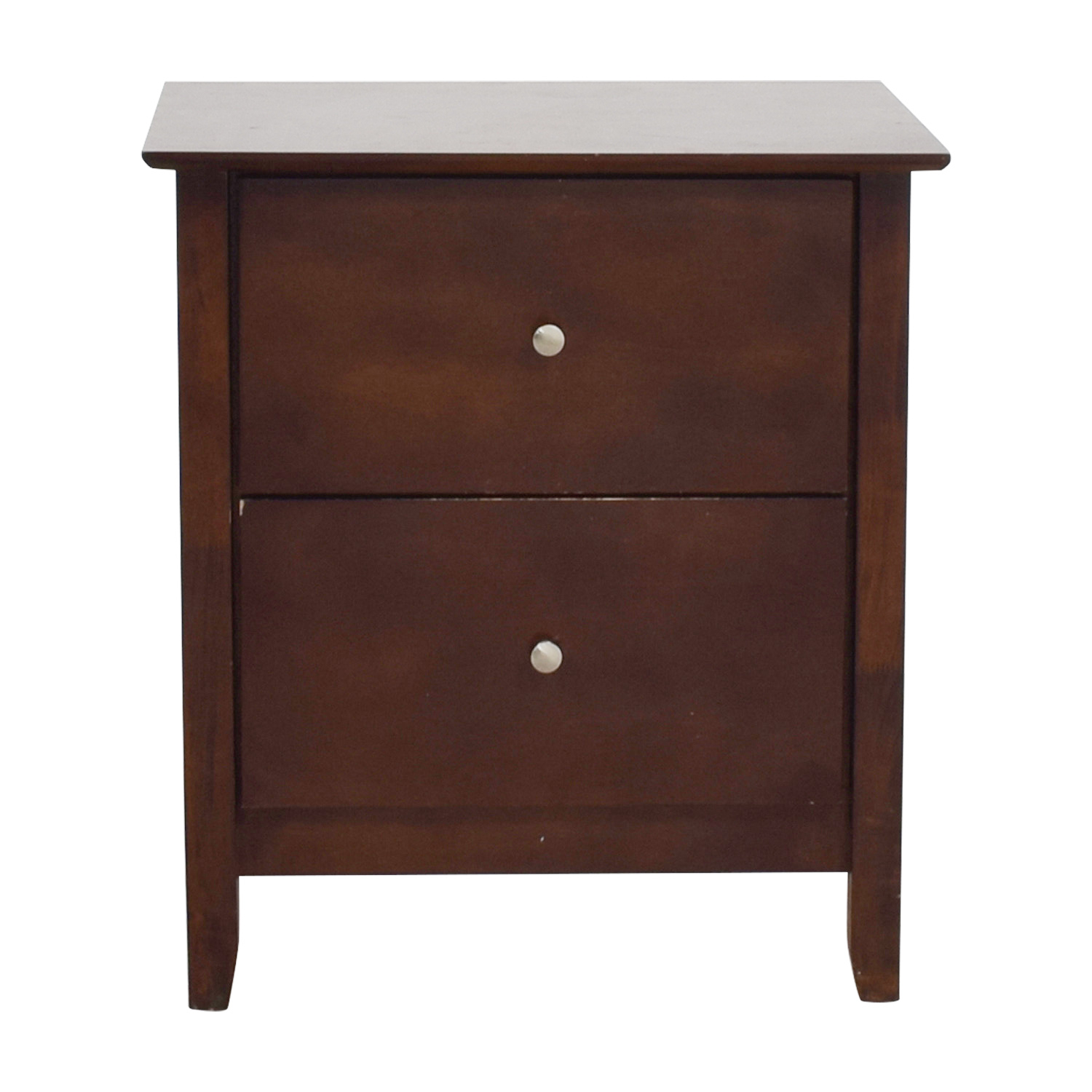 Bobs Discount Furniture Bobs Furniture Two-Drawer Nightstand dimensions