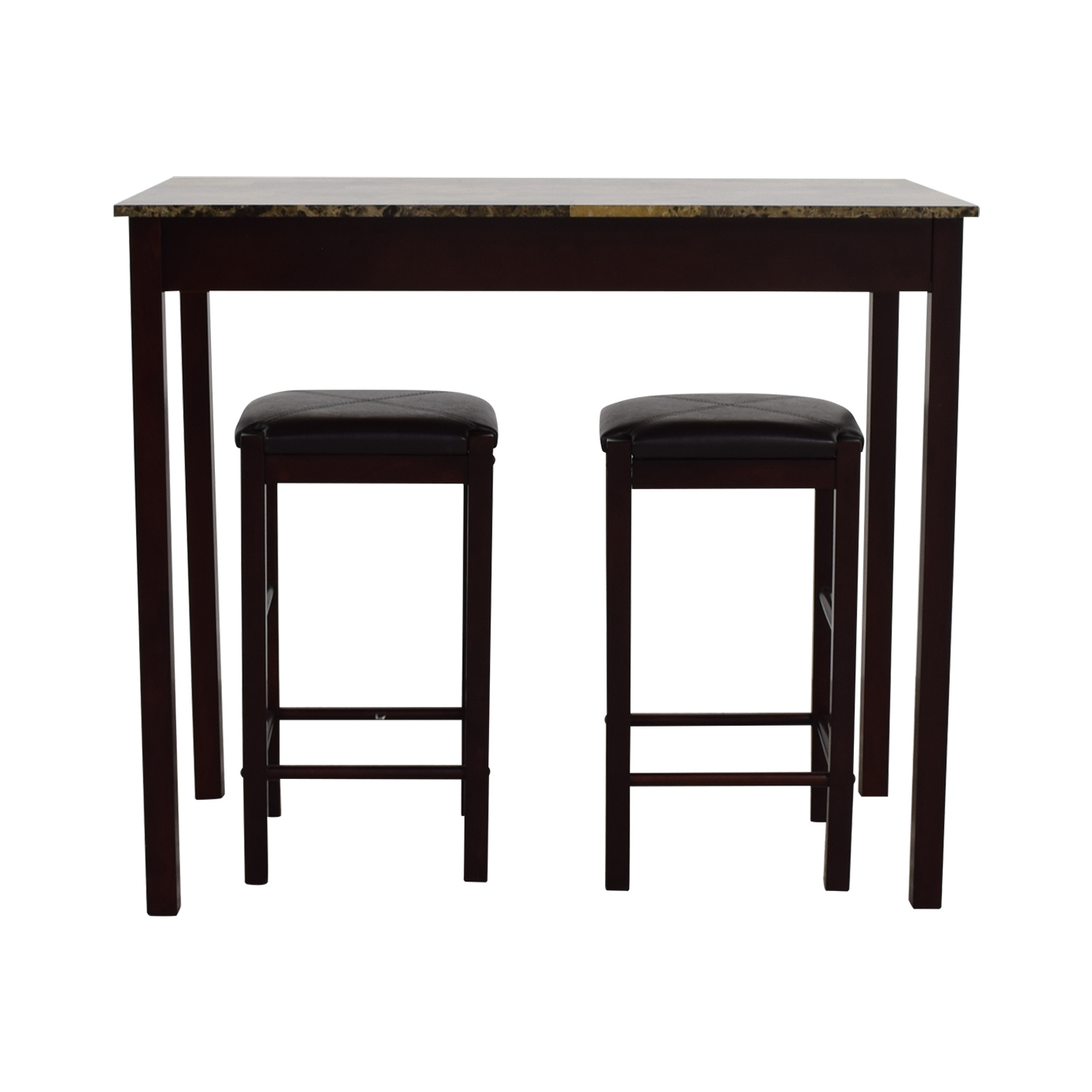 Linon Home Decor Linon Home Decor Tavern Marble Table and Stools second hand