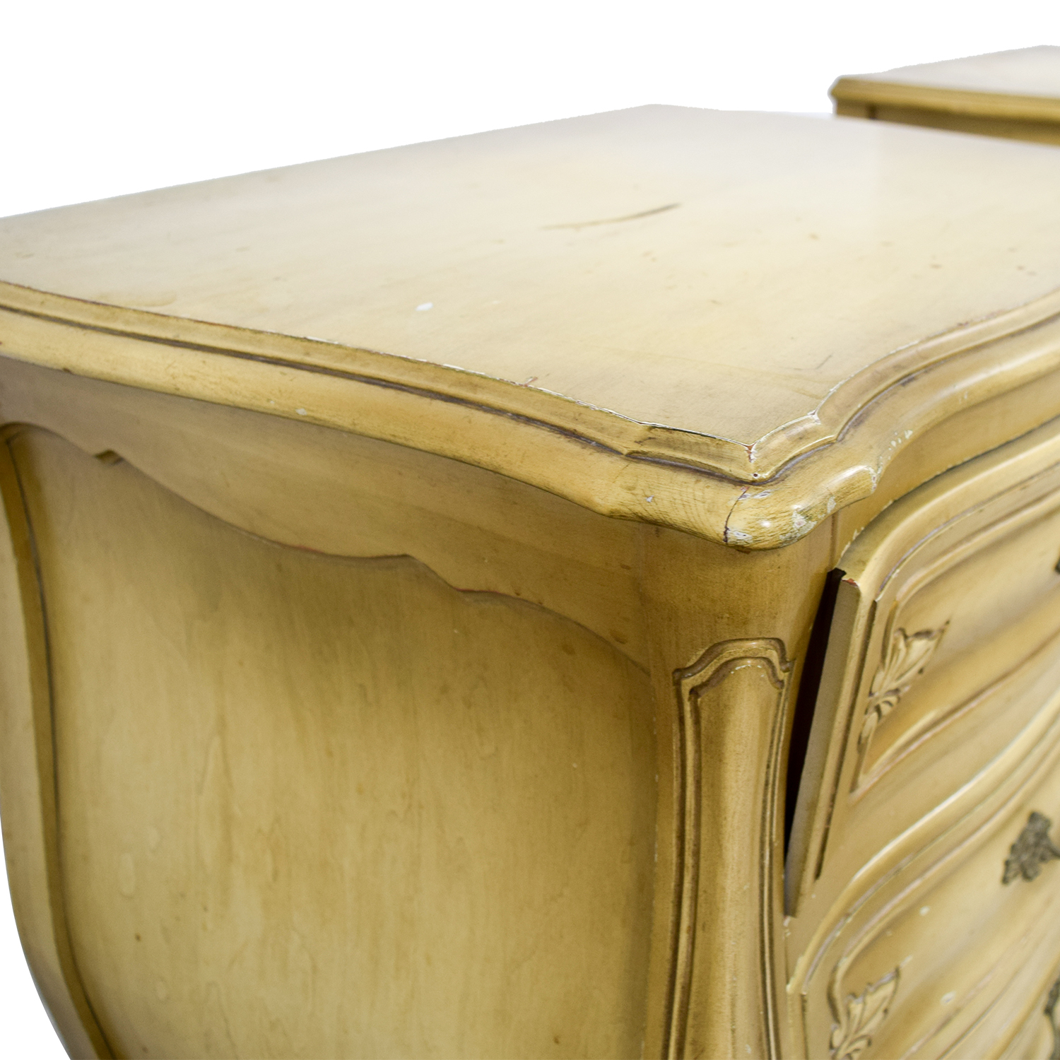 Distressed Mustard Night Stands for sale