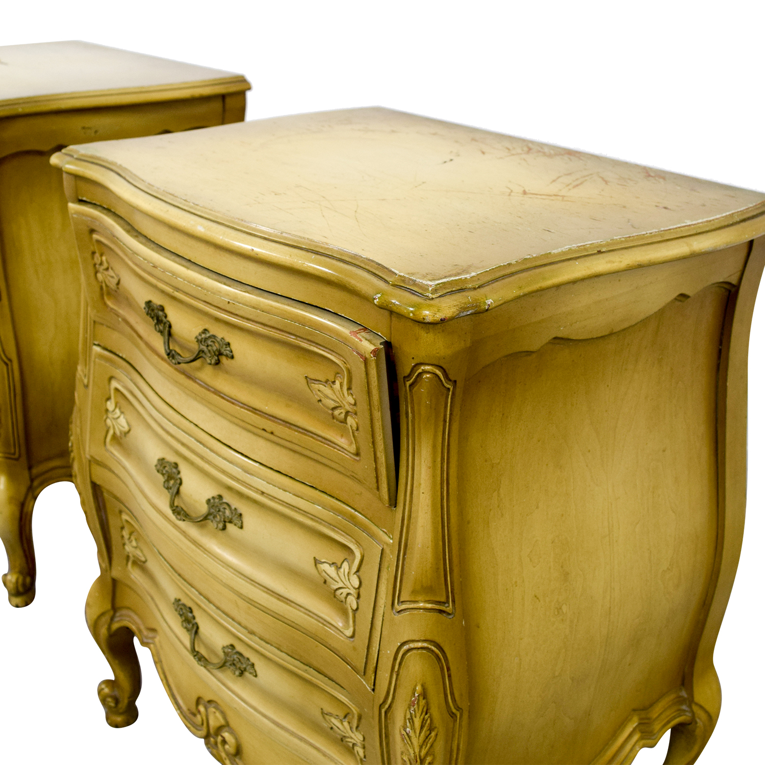 Distressed Mustard Night Stands Distressed Mustard