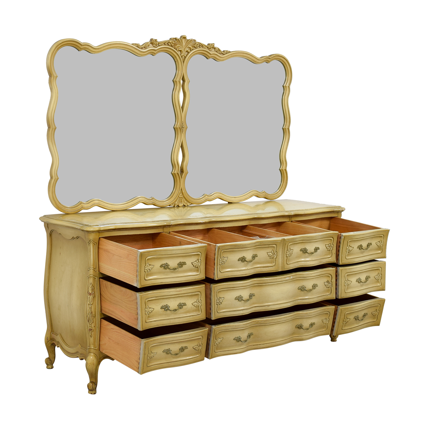 Carlton House Carlton House Dovetailed Ten-Drawer Dresser with Double Mirror nj
