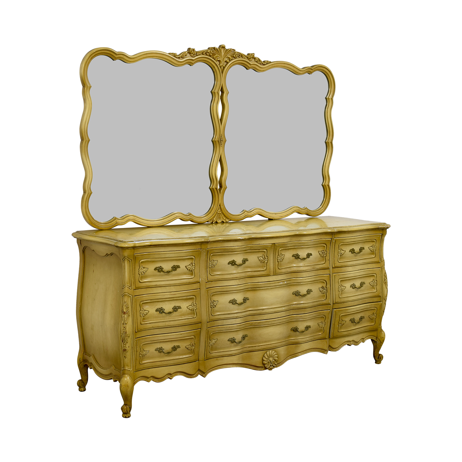 Carlton House Carlton House Dovetailed Ten-Drawer Dresser with Double Mirror used
