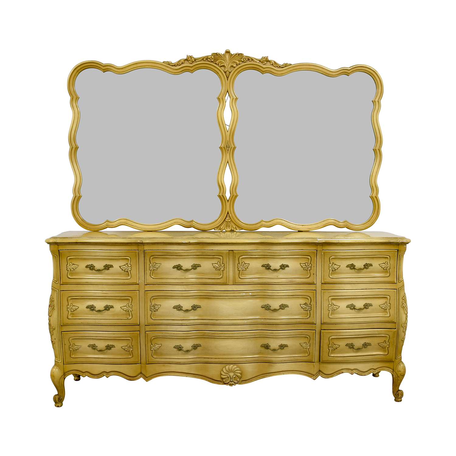 Carlton House Carlton House Dovetailed Ten-Drawer Dresser with Double Mirror discount