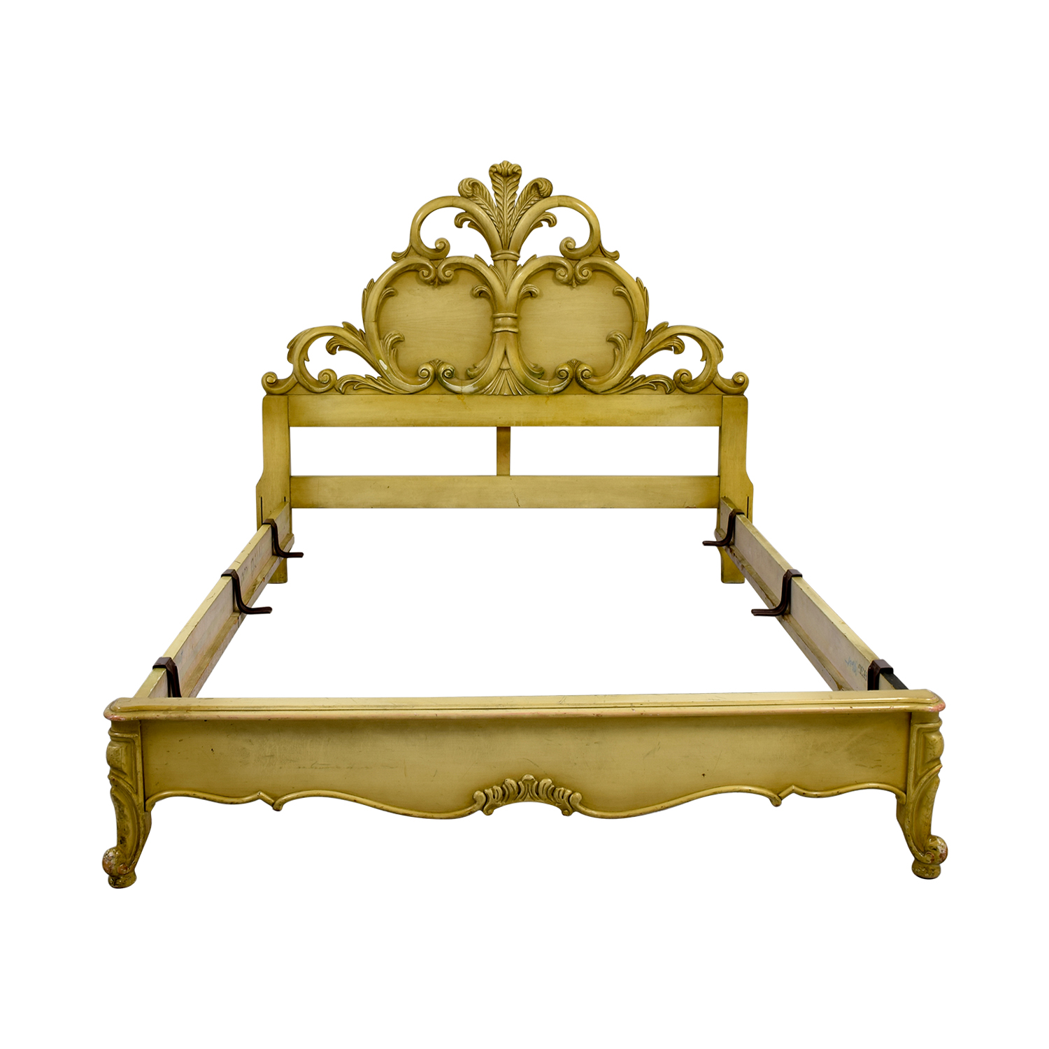 90 Off Gold Carved Full Bed Frame Beds